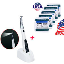 LED Wireless 16:1 Reduction Contra Angle Endo Motor Treatment+ 5Box NiTi Files