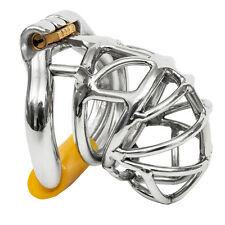"S065 Handmade Stainless Steel Male Chastity Cage Device- Small 1.60"" Ring"