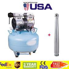 USA Dental Silent Noiseless Oilless Air Compressor BD-101A+ High Speed Handpiece