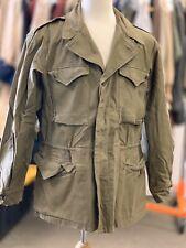 """WW2 U.S. Army M1943 Field Jacket - Named, 100% Original OD Green, SIZE 42"""" Chest"""
