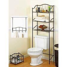 Bath 3 Piece Complete Bath Set Bronze Bathroom Accessories Magazine Rack Metal