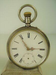 Antike Taschenuhr 800 Silber Remontoir ANCAE um 1900