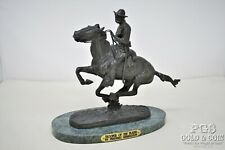 "Remington Trooper of the Plains Bronze Statue on Marble Base 10 1/2""h 19884"