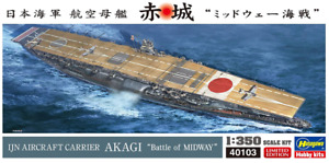 AKAGI - Battle of MIDWAY1:350 IJN Aircraft Carrier Limited Edition by Hasegawa