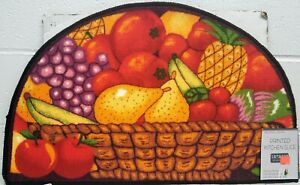 "PRINTED NYLON KITCHEN RUG (non skid)(18""x30"") BASKET OF FRUITS #2, ST"