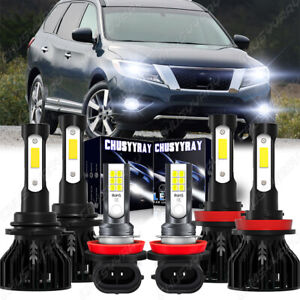 For Nissan Pathfinder 2013-2016 - Combo LED Headlights Fog Light Bulbs Kit 6000K