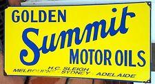 GOLDEN SUMMIT MOTOR OIL ENAMEL SIGN (MADE TO ORDER) #47