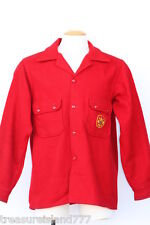 Vintage Official Boy Scout Troop Leader red wool jacket Adult Mens 44