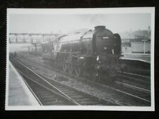 POSTCARD LIGHT ENGINE 60114 'W P ALLAN' STANDS AT DONCASTER 1952