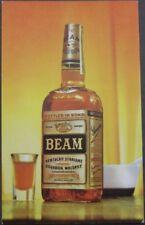 'Beam Kentucky Straight Bourbon Whiskey' 1960 Chrome Advertising Postcard