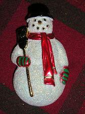 Christmas Snowman Irradecent Enameled Pin/Broach