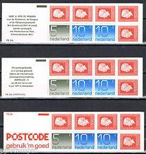 Nederland Postzegelboekjes 22a, 22b, 22c mooie set (11) 80% van de postprijs
