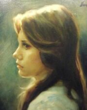 Evelyn Embry Original Oil Painting on canvis Painting Young Woman