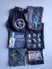 Lot of 6 Penguin Short Sleeve Graphic Tee Shirt  Cotton Blend Sz Large L