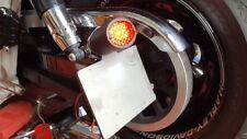 HARLEY - FAT  BOB - SIDE MOUNT  NUMBER PLATE BRACKET & STOP & TAIL LIGHT - LED