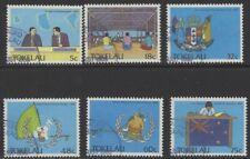 TOKELAU ISLANDS SG159/64 1988 POLITICAL DEVELOPMENT FINE USED