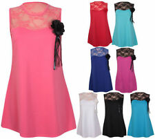 Lace Sleeveless Tops & Blouses for Women