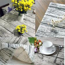 Wood Grain Linen/cotton Fabric DIY Home Coffee Decor Table Cloth Cover 50x150cm