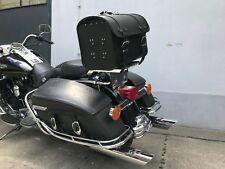 Loki Top Case Leather Case Trike Quad HD Chopper Motorcycle Universal Black BMW