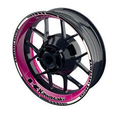 Felgenaufkleber Motorrad Felgenrandaufkleber Wheelsticker Kawasaki Saw pink