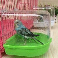 Clean Parrot Bird Bathtub Box Bird Bath Shower Standing I Hanging Wash Cage H0Z5