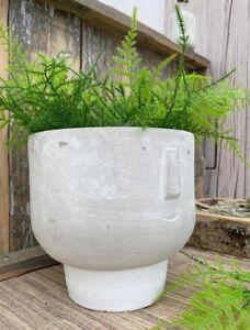 Grey Concrete Face Head Plant Pot Planter Garden Outdoor Person Vase Home Decor