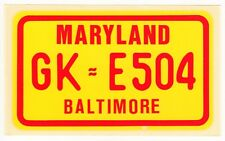 figurina U.S.A. TARGHE NUMBER PLATES EDIZIONE FIGURINA CLUB MARYLAND