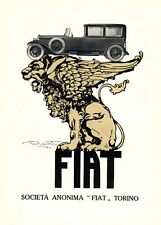 Plinio Codognato- Pubblicità FIAT 509- LEONE alato- velocità MITO 1926