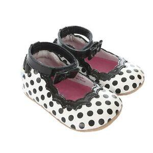 NIB Robeez Shoes Mini Shoez  Charlotte Black White 6-9m 9-12m 3 4
