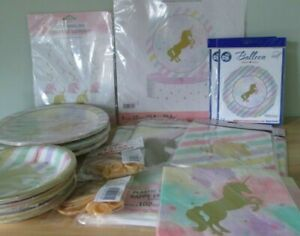 Gold Unicorn Sparkle - Bumper Pack - Party Tableware Decorations
