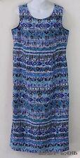 Koret Long Sleeveless Sheath Dress Floral Ethnic Tribal Print Womens Plus 14W
