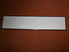 SELF ADHESIVE / STICK ON VINYL BLANK NUMBER PLATE  OBLONG STANDARD  IN WHITE