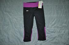 Under Armour Womens UA Fly-By Compression Capri Leggings 1236476 010 XSmall