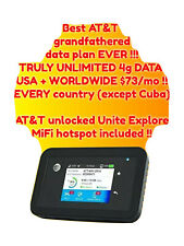 New listing At&T Unlimited Int'L Grandfathered Usa + *Worldwide* 4G Data Sim $73/mo !