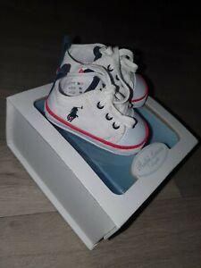Baby Boys Ralph Lauren Pram Shoes UK Size 2.5