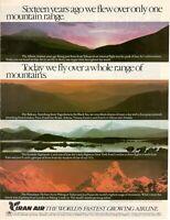 1977 Original Advertising' Vintage Iran Air Company Aerial
