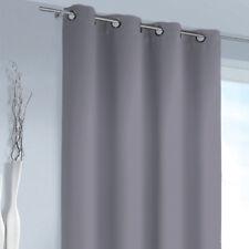 rideau gris 245cm rideau store œillet opaque INTERDICTION RIDEAUX