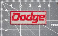DODGE NAME LOGO RED GRAY CAR BIKER FORMULA RACING MECHANIC PATCH - MADE IN USA