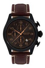 Gigandet Timeless Herrenuhr Chronograph Datum Edelstahl Schwarz Braun G41-005