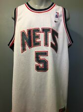 Vtg Nike Jason Kidd New Jersey Nets Nba Basketball Mens Xxl Uniform Shirt White
