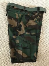NWT Men's Swaggers Green Camouflage Camo Cargo Pocket Shorts w/ Belt SIZES 32-42