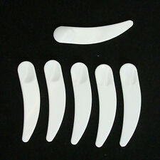 20x Plastic Cosmetic Disposable Curved Cosmetic Mask Spatulas Scoop Spoon ATAU