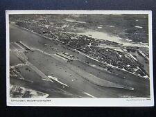 More details for aerial view ijmuiden sluizencomplex sea lock port of amsterdam c1946 rp postcard