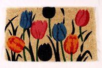 KEMPF 1701 18 in. x 30 in. Multi Tulip Coco Mat  - Natural