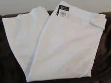 """Ladies """"Chaps"""" Size 18W, White, Slimming Fit Mid Rise Polished Stretch, Capris"""