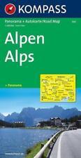 Alpen 1 : 500 000. Autokarte mit Panorama (2015, Mappe)