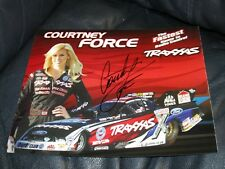 Courtney Force Pro Stock Driver Autographed Photo