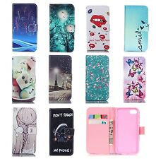 Flip Wallet Leather Card Stand Case With Holder For iPhone 5/6/7 Samsung s8