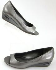 NEW! Cole Haan Air Bria OT Wedges Metallic Silver Sz 5.5B