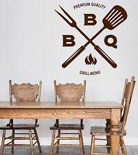 Wall Vinyl Decal BBQ Grill Menu Decor Catering Restaurant Cafe z4755